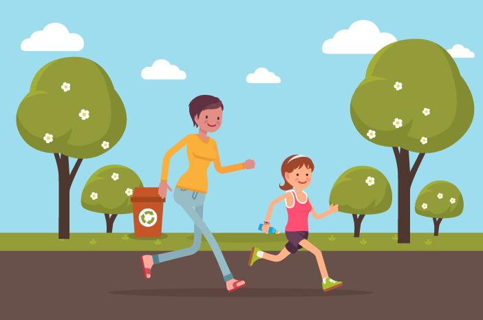 Olahraga bareng anak