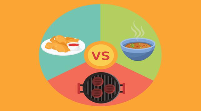 Lebih Sehat Mana untuk Berbuka: Makanan dibakar, Goreng atau Rebus?