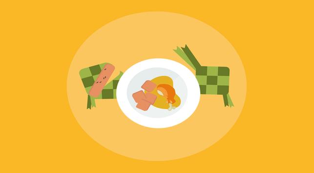 ketupat beras merah, makanan lebaran sehat