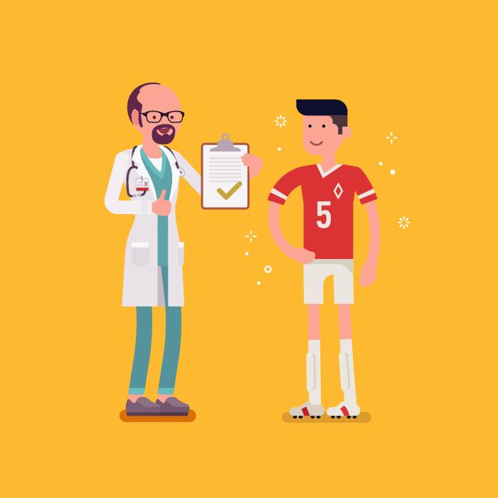 tes medis, tes medis pemain bola, piala dunia 2018