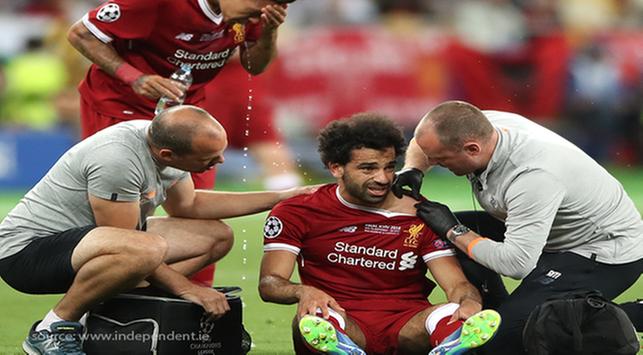 Mohamed Salah cedera, cedera tulang bahu, bahaya cedera tulang bahu,dislokasi bahu