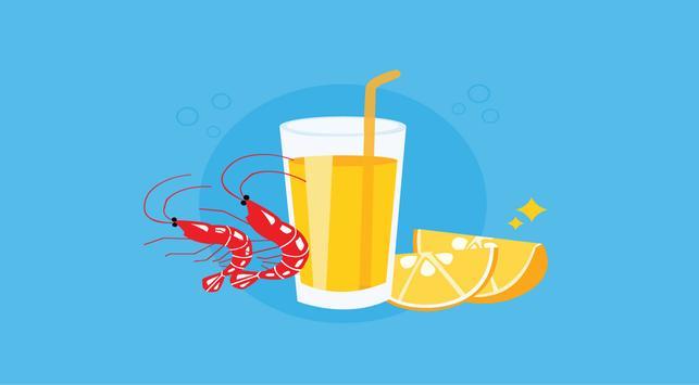 efek makan udang sambil minum es jeruk