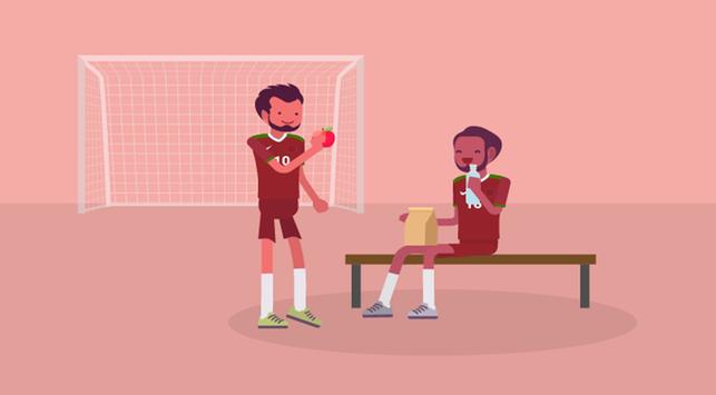 sepak bola,makanan atlet sepak bola