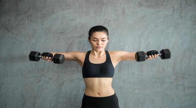 cara mengecilkan lengan, barbel, latihan