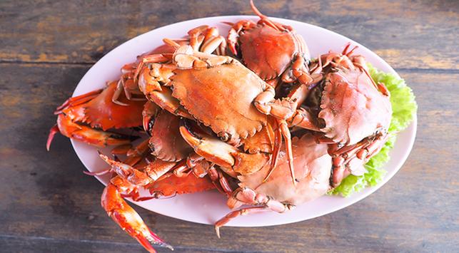 seafood, dampak makan kepiting, kolesterol tinggi